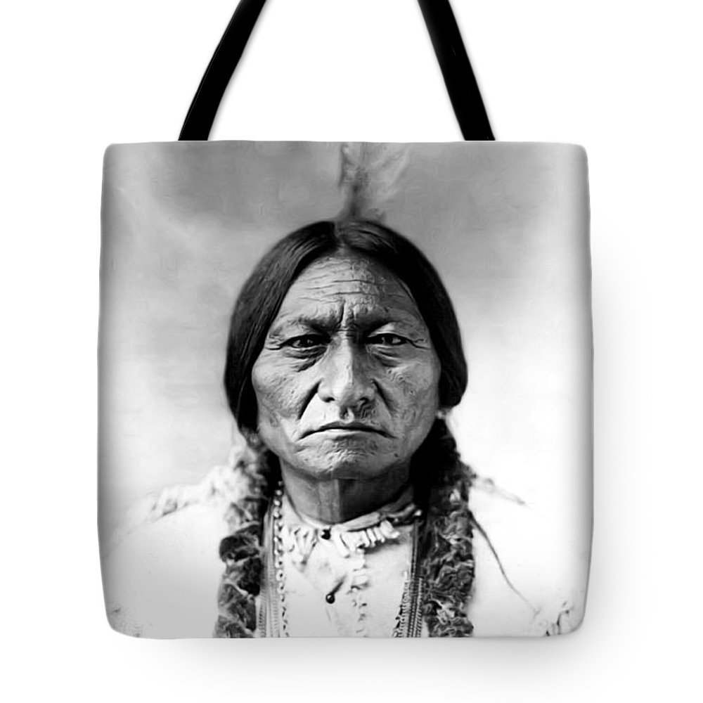 Sitting Bull Tote Bag featuring the photograph Sitting Bull by Bill Cannon