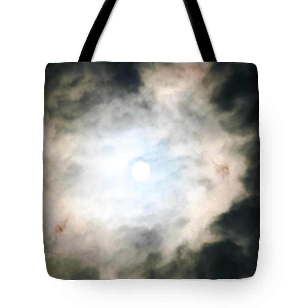 Sizzling In Sapphire Tote Bag featuring the photograph Sizzling In Sapphire by Sharon Mau