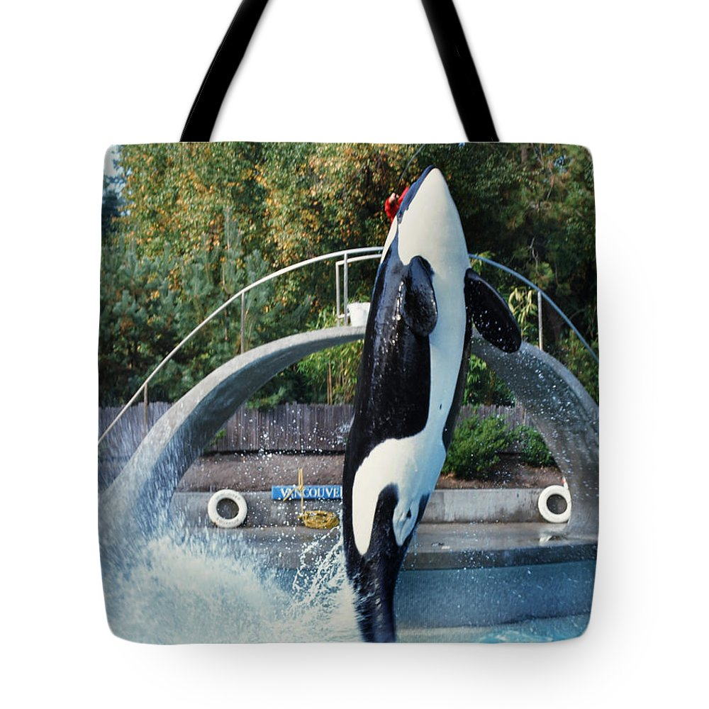 Skana Tote Bag featuring the photograph Skana Orca Vancouver Aquarium 1974 by California Views Archives Mr Pat Hathaway Archives