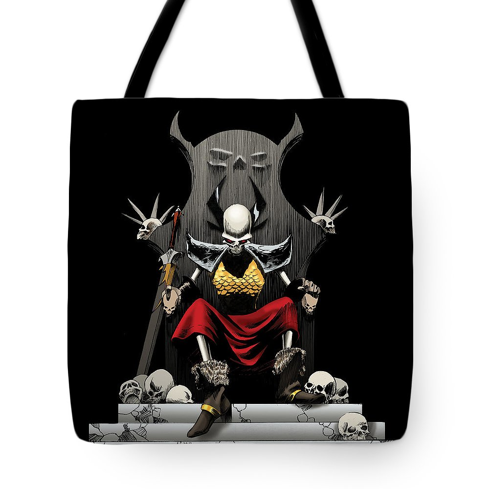 Usherwood Tote Bag featuring the digital art Skeletal Noble by James Kramer