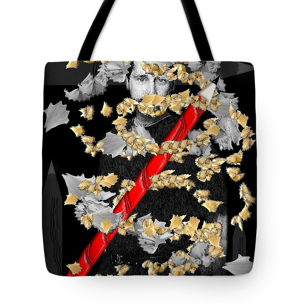 Sketch Tote Bag featuring the digital art Sketchy by Michael Hurwitz