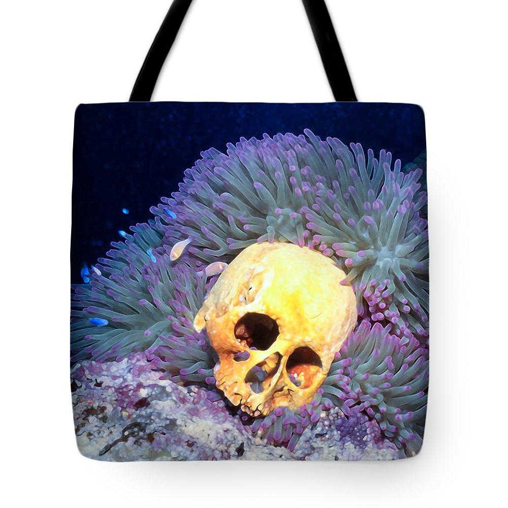 Micronesia Tote Bag featuring the photograph Skulls 2 by Dawn Eshelman