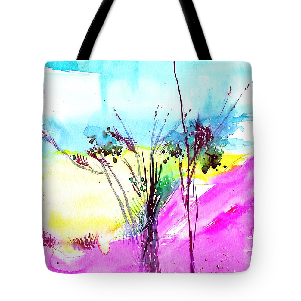 Flower Tote Bag featuring the painting Sky Fall by Anil Nene