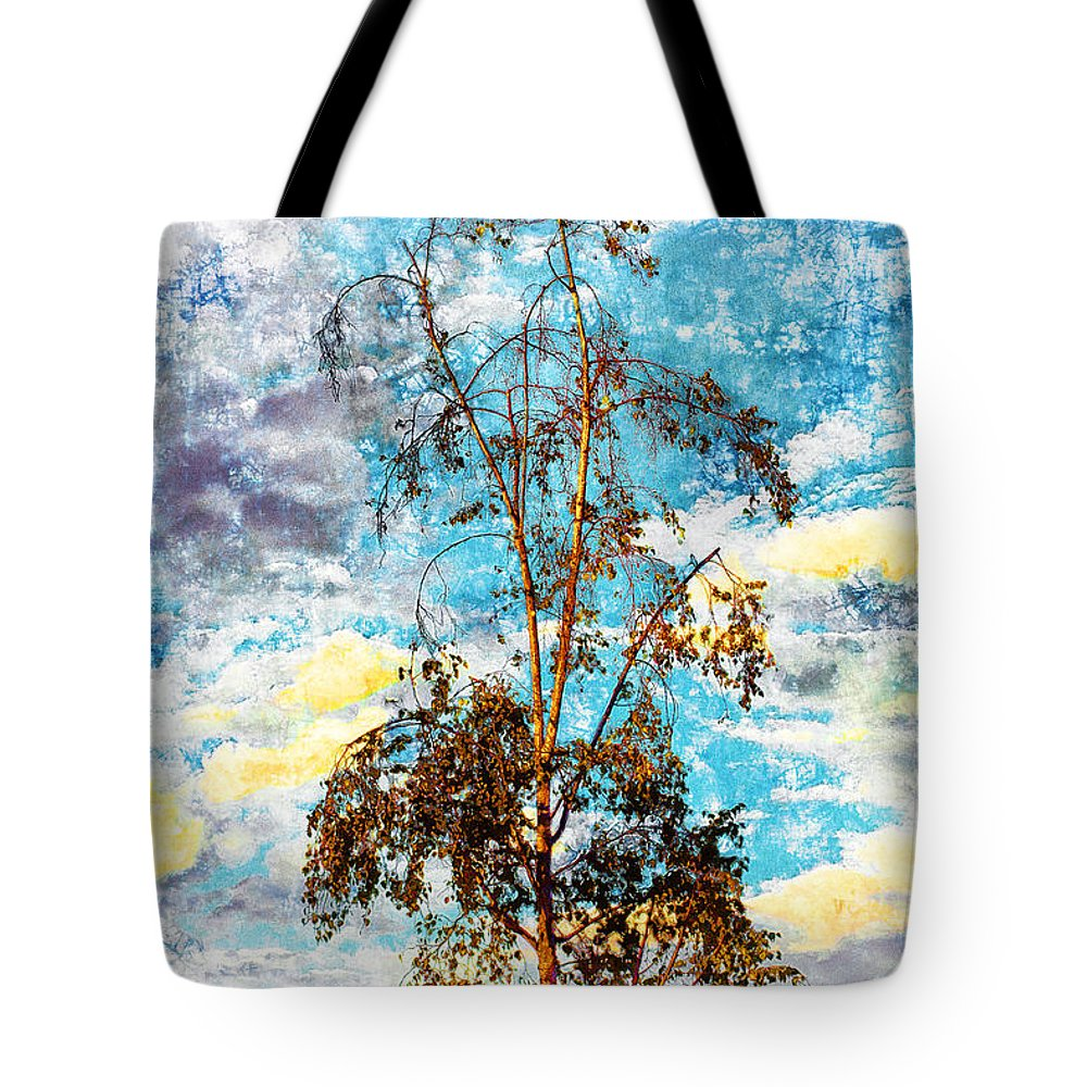 Sky Tote Bag featuring the photograph Sky Tree by Davy Cheng