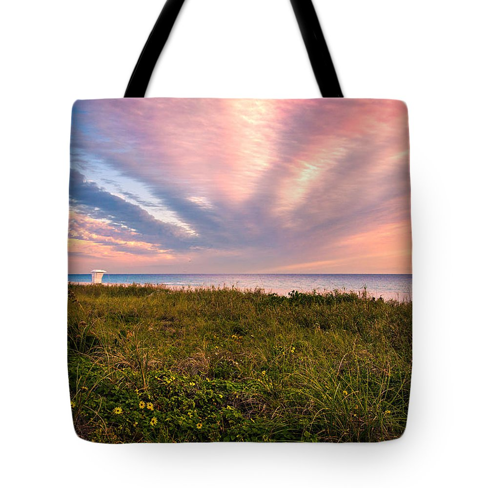 Atlantic Tote Bag featuring the photograph Sky Waves by Lynn Bauer