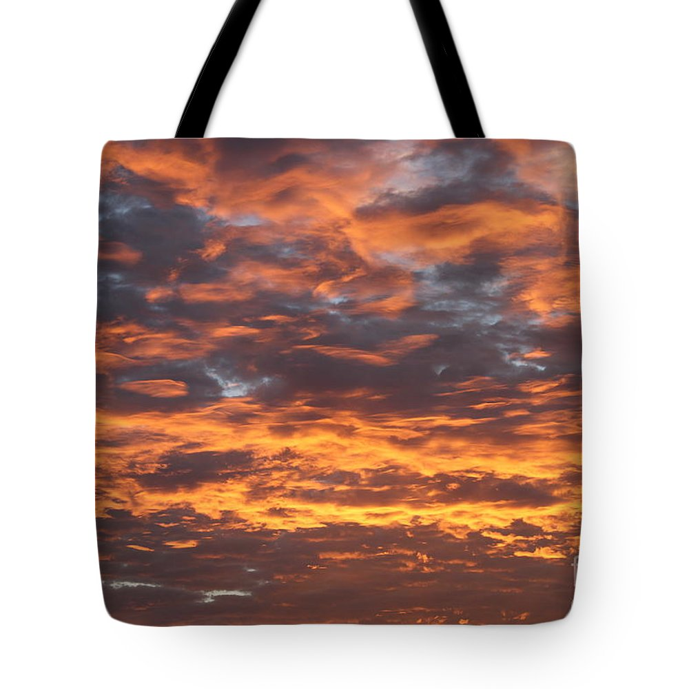 Skyfire Tote Bag featuring the photograph Skyfire by L L L