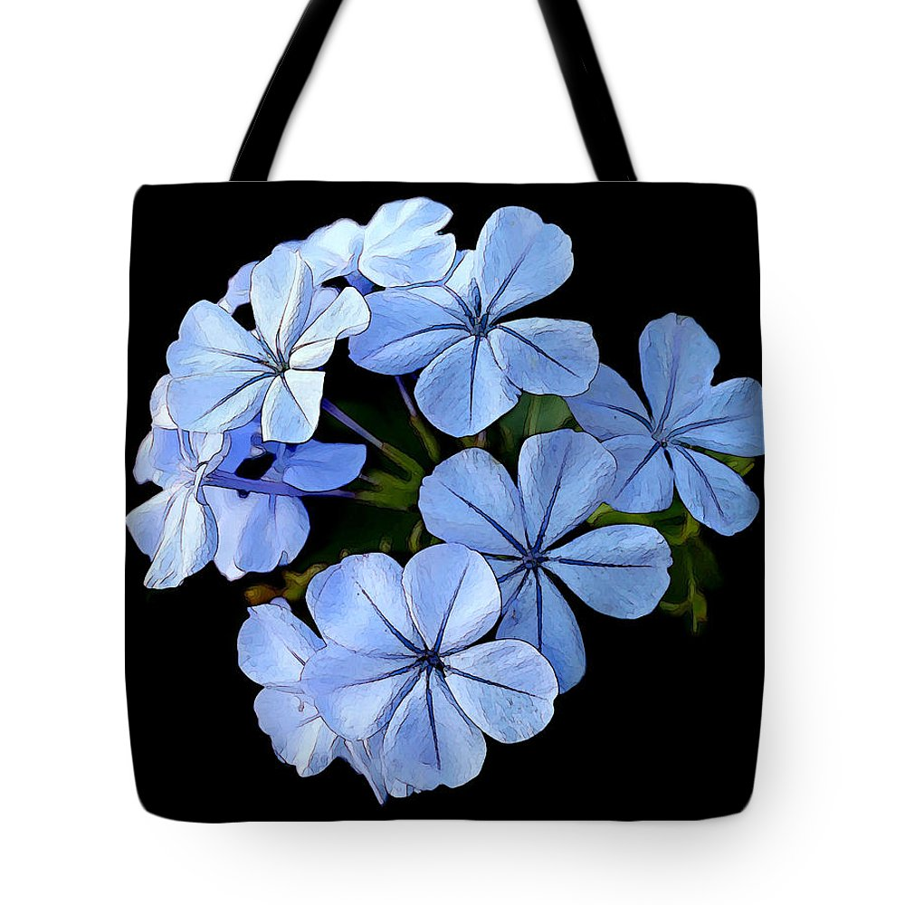 Floral Tote Bag featuring the photograph Skyflowers by Jean Connor