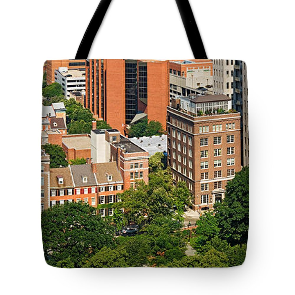 Photography Tote Bag featuring the photograph Skyscrapers In A City, Washington by Panoramic Images