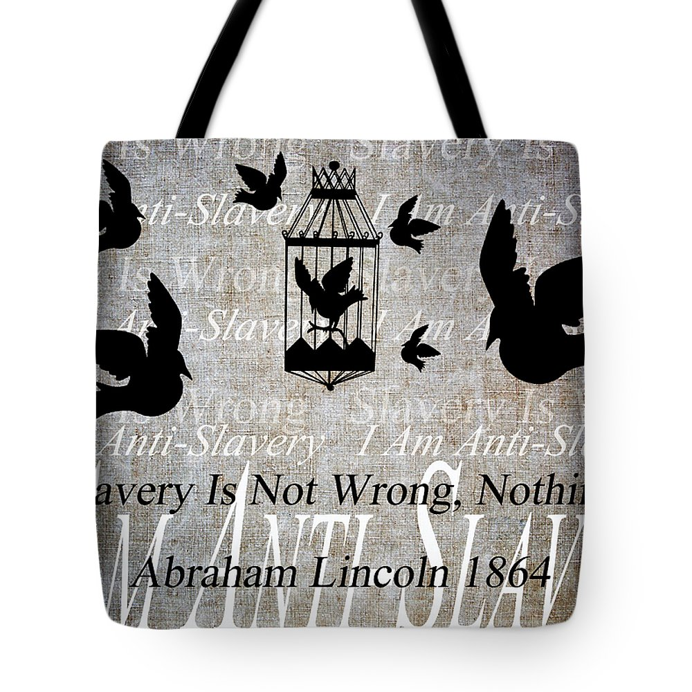 Texture Tote Bag featuring the digital art Slavery by Angelina Vick