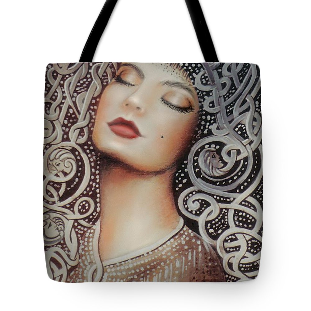 Beautiful Tote Bag featuring the painting Sleeping Beauty by Artist ForYou