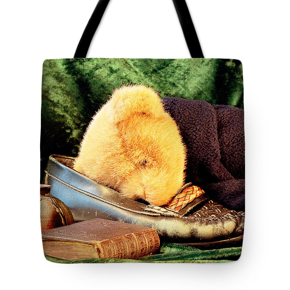 Teddy Tote Bag featuring the photograph Sleeping Teddy by Louise Heusinkveld