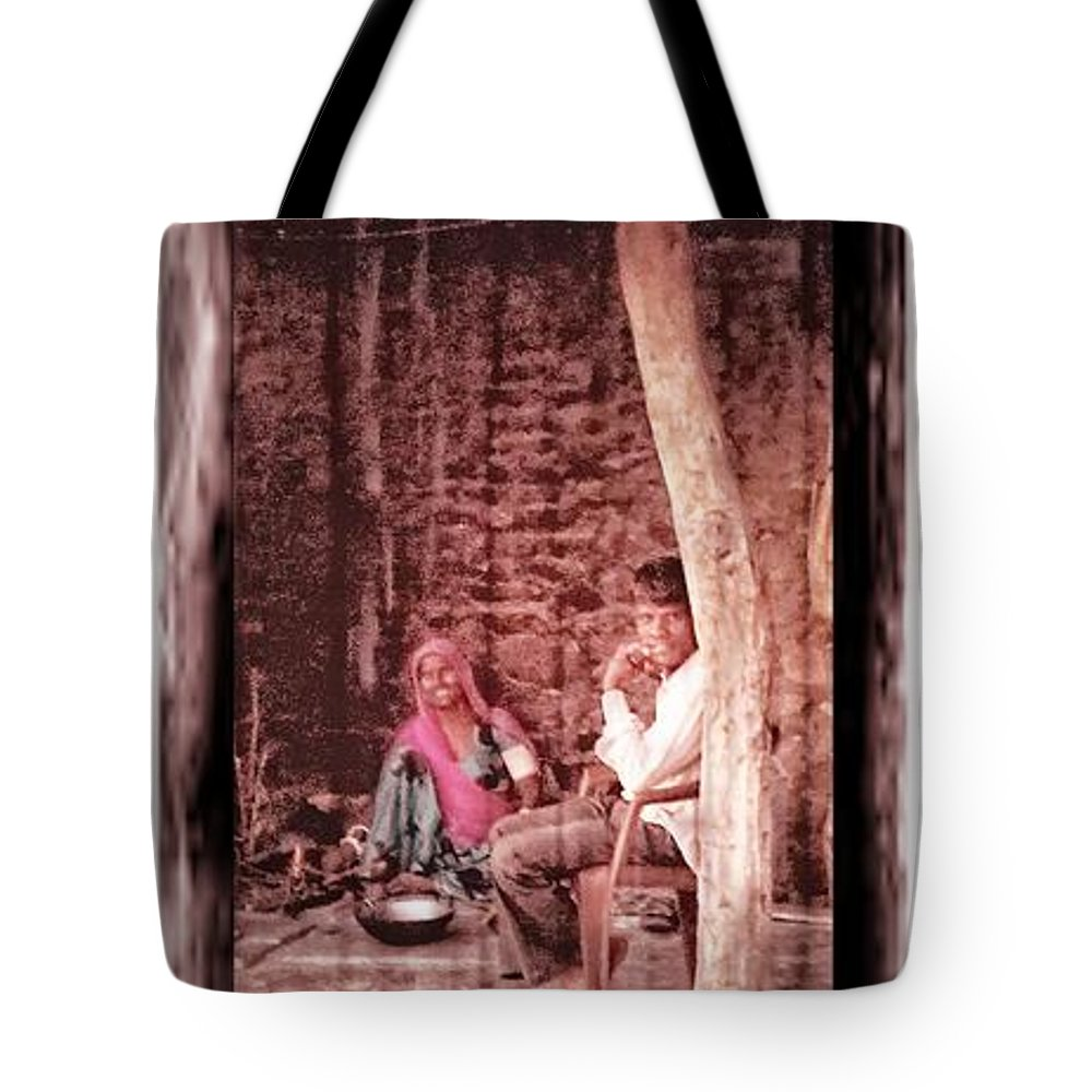Slice Of Life Tote Bag featuring the photograph Slice Of Life Mud Oven Chulha Tandoor Indian Village Rajasthani 1c by Sue Jacobi