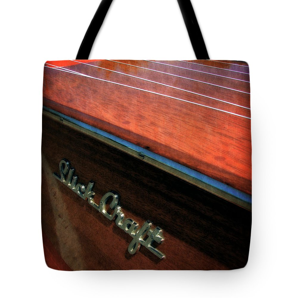 Slick Craft Tote Bag featuring the photograph Slick Craft Powerboat by Michelle Calkins