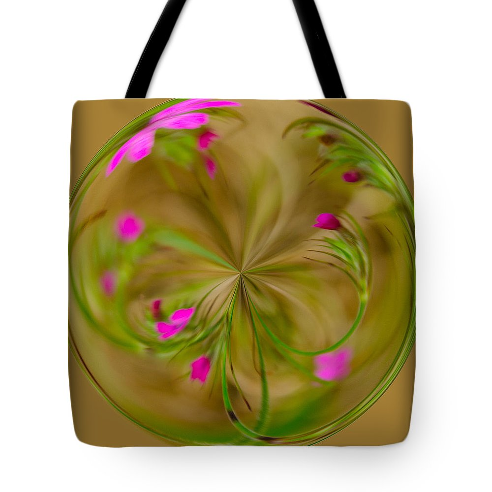 Green Tote Bag featuring the photograph Small Pink Buds by Tikvah's Hope