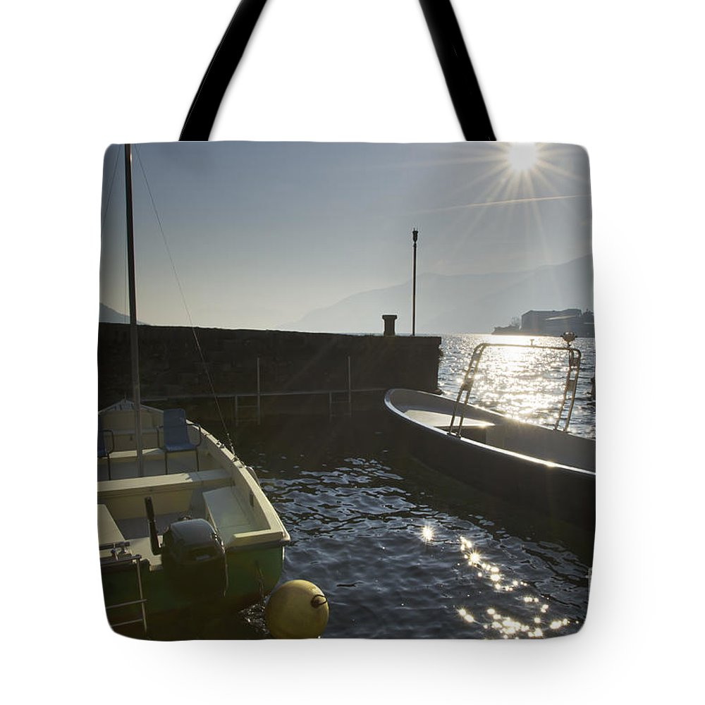 Port Tote Bag featuring the photograph Small Port In Backlight by Mats Silvan