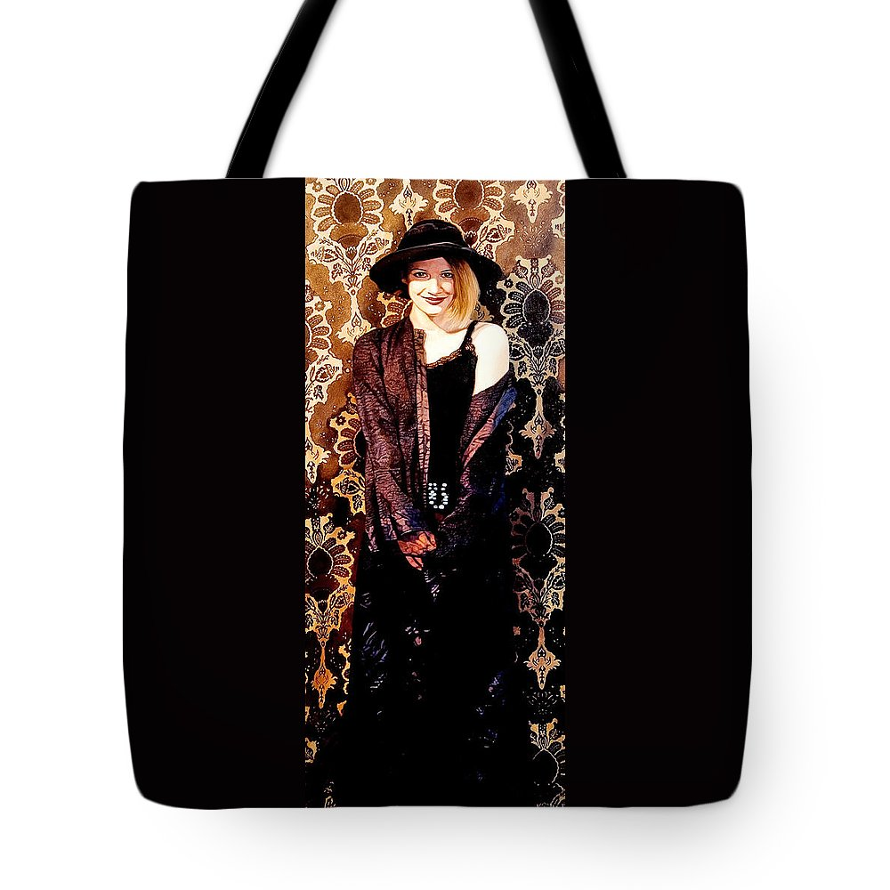 Smile Tote Bag featuring the painting Smile by Patrick Whelan