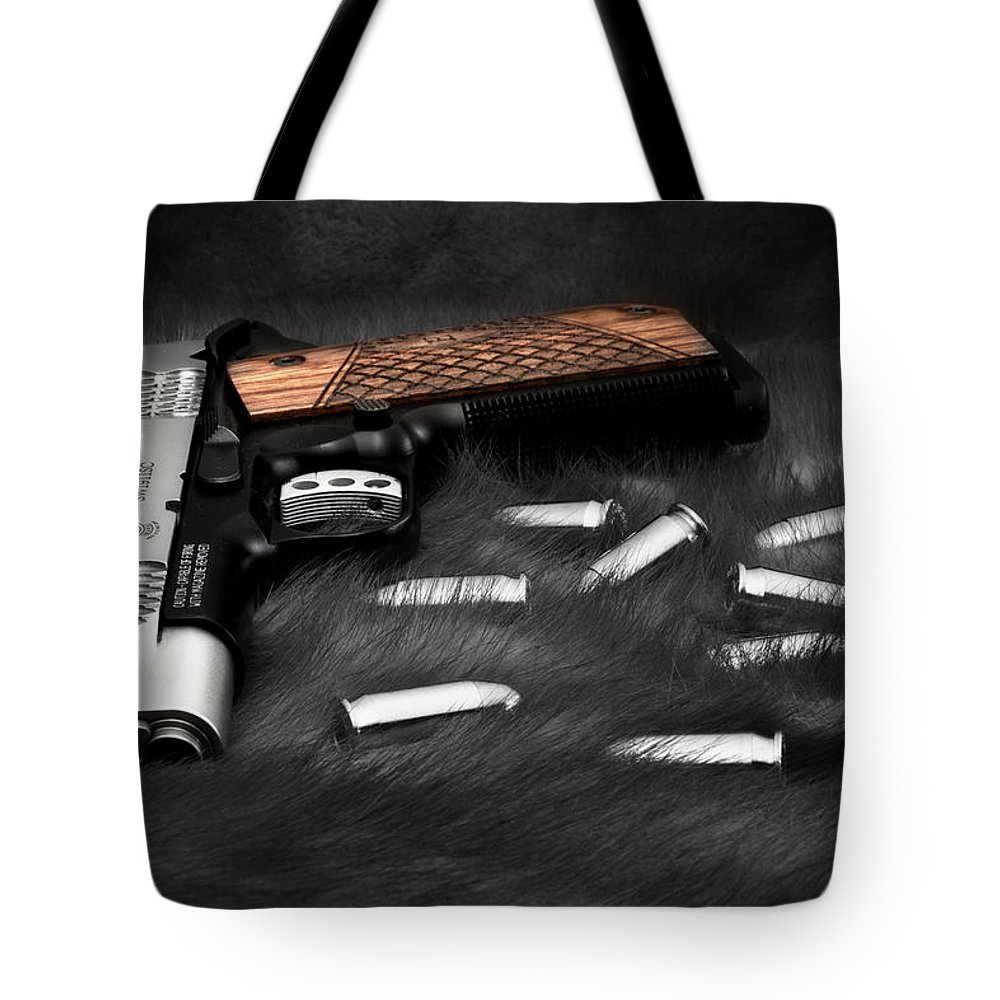 1911 Tote Bag featuring the photograph Smith And Wesson 1911sc Still Life by Tom Mc Nemar