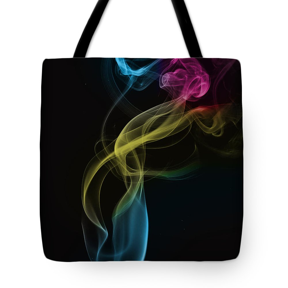 Smoke Tote Bag featuring the photograph Smoke Abstract by Eleanor Bortnick