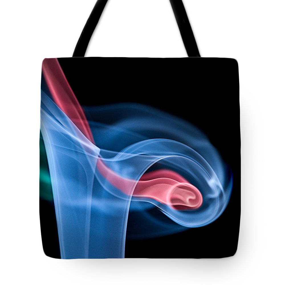 Smoke Tote Bag featuring the photograph Smoke Trails by Susan Candelario