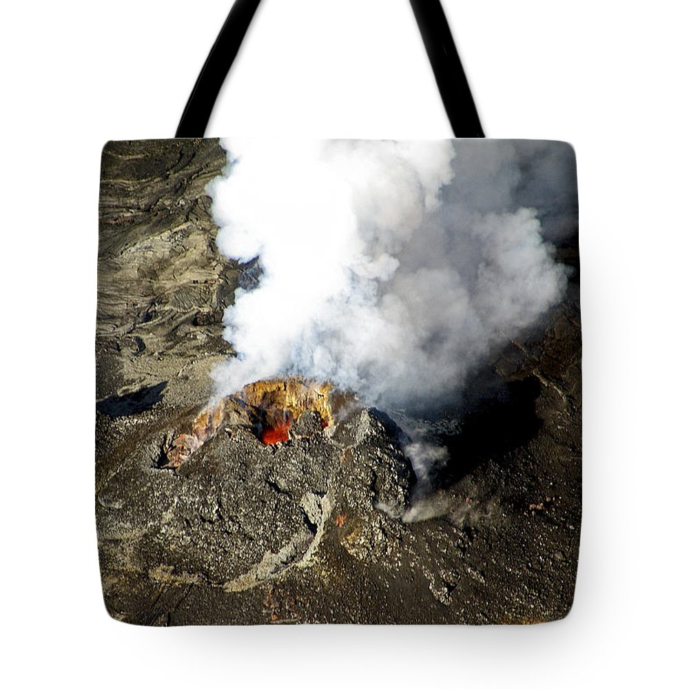 Lava Tote Bag featuring the photograph Smoker by Eric Swan