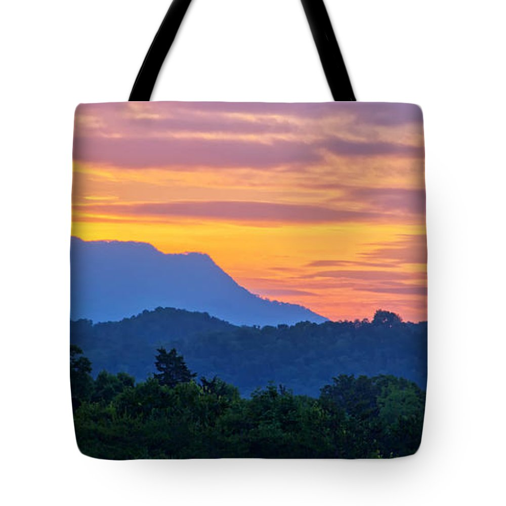 Great Smoky Mountains Tote Bag featuring the photograph Smoky Mountains Sunrise by Carolyn Derstine