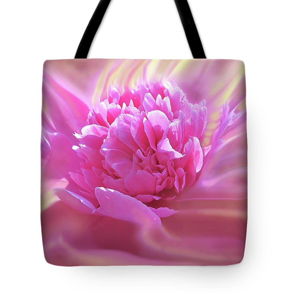 Peony Tote Bag featuring the digital art Smooth Pink by Ian MacDonald