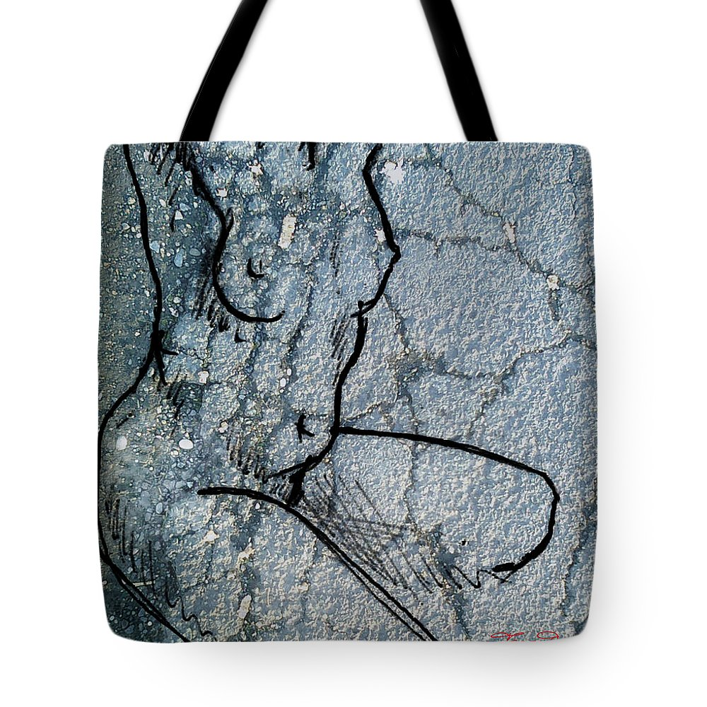 Theo Danella Tote Bag featuring the mixed media Sn 1 A by Theo Danella