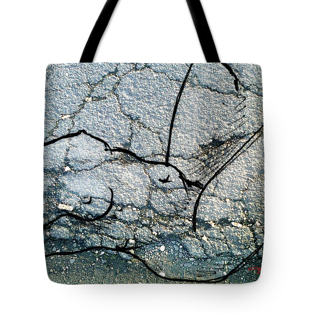 Theo Danella Tote Bag featuring the mixed media Sn 1 B by Theo Danella