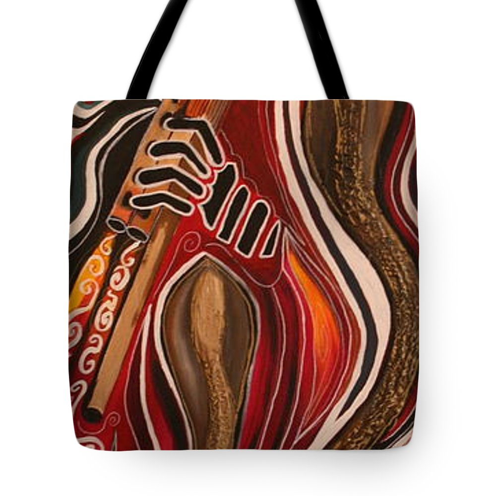 Snake Tote Bag featuring the painting Snake Charmer by Kate Fortin