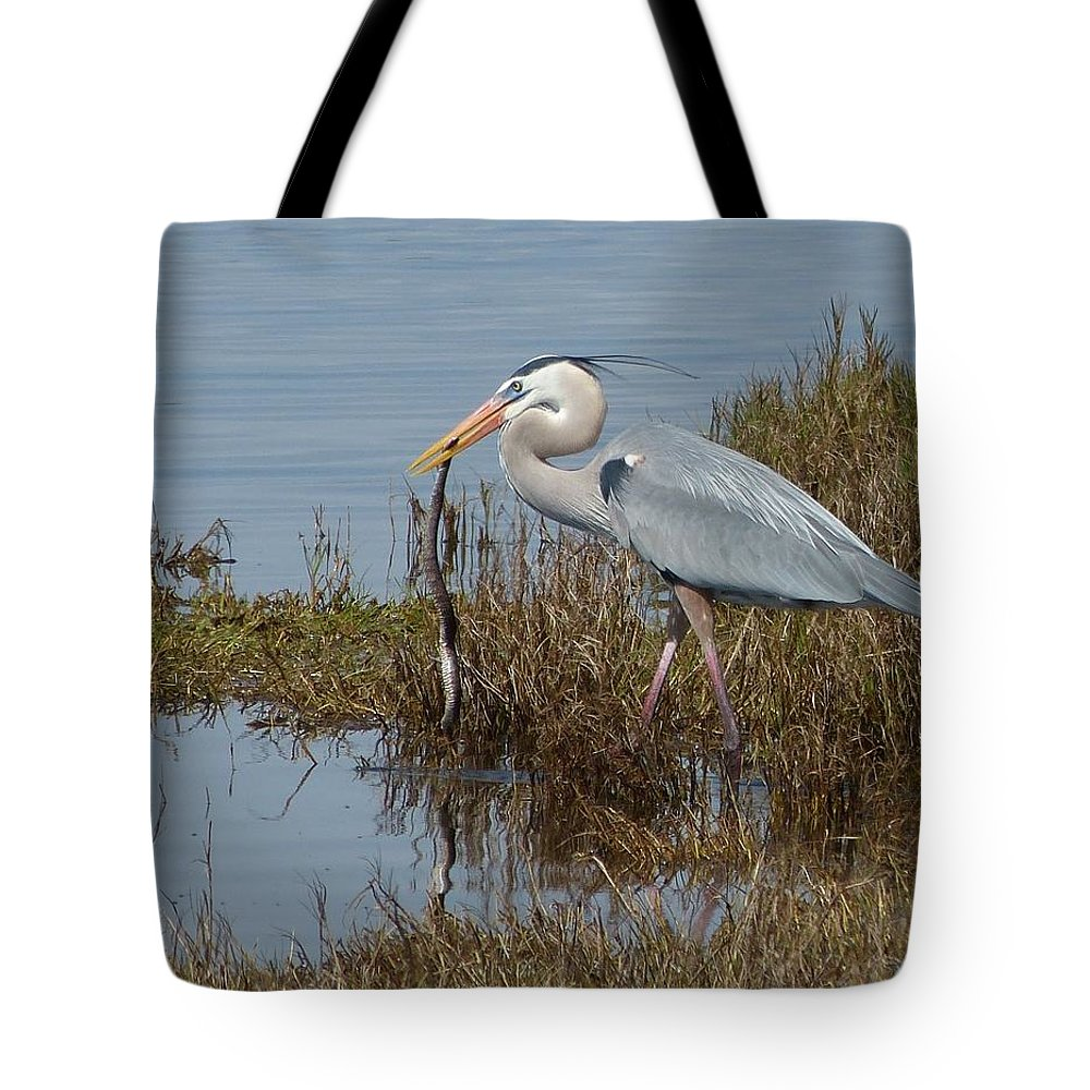 Landscape Tote Bag featuring the photograph Snake Dinner by Eldora Schober Larson