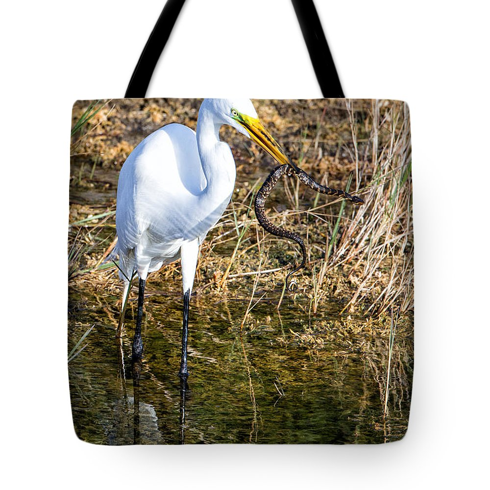 Great Tote Bag featuring the photograph Snake For Lunch by Ronald Lutz