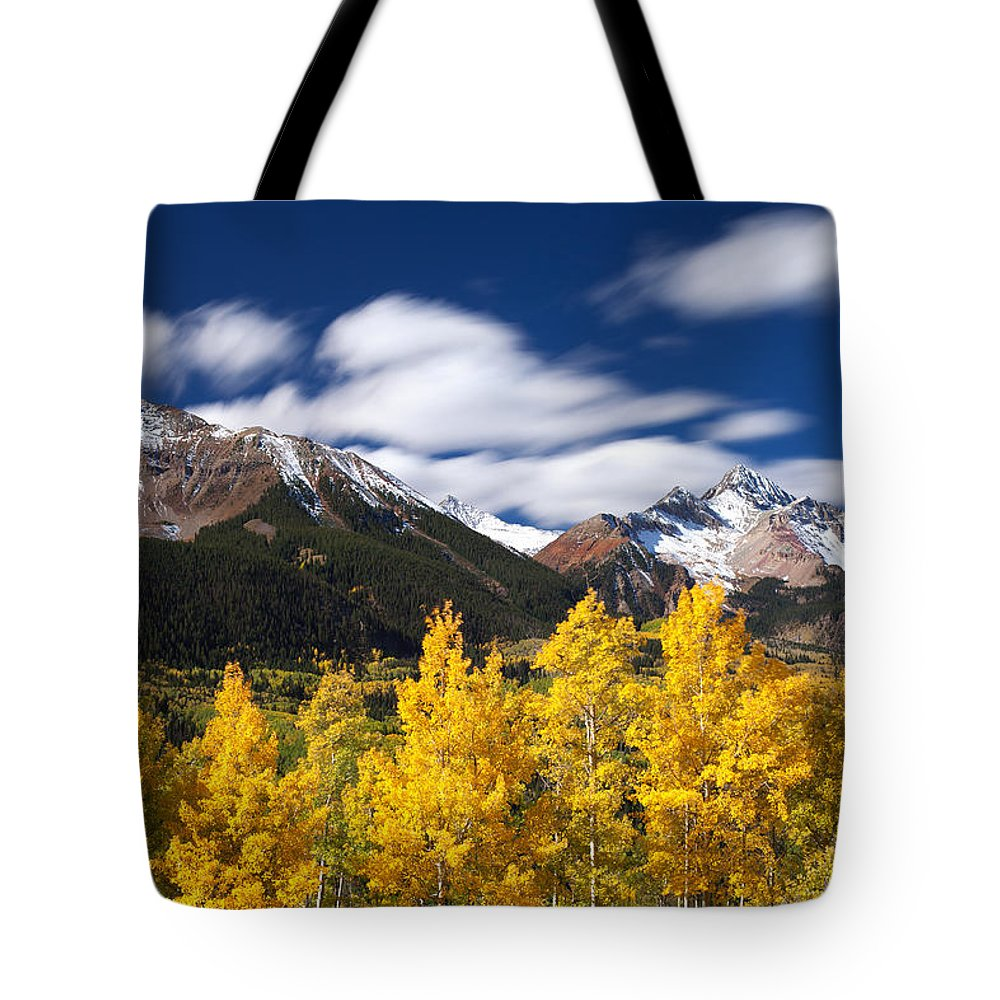Colorado Landscapes Tote Bag featuring the photograph Sneffels Winds by Darren White