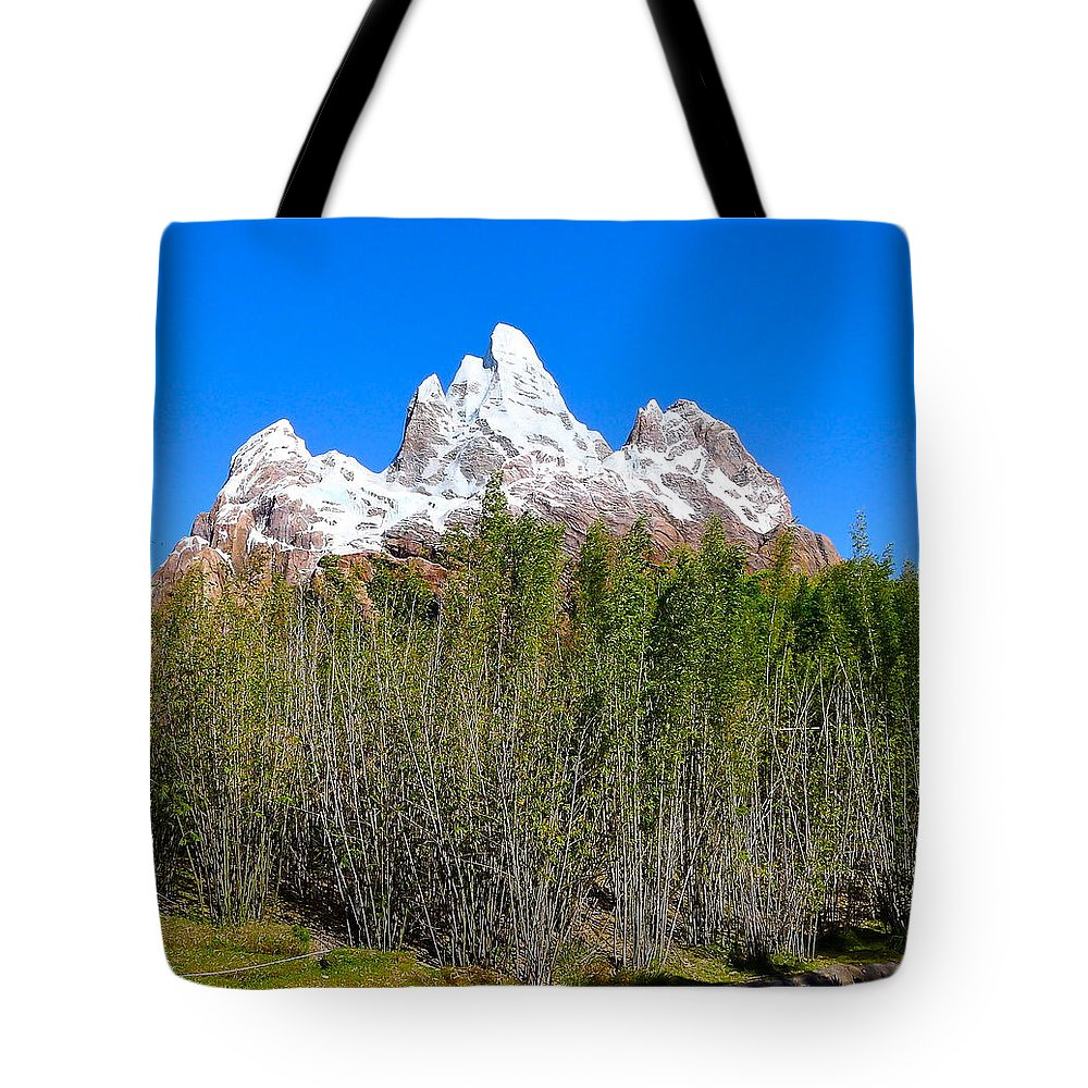 Nature Tote Bag featuring the photograph Snow-capped by Denise Mazzocco