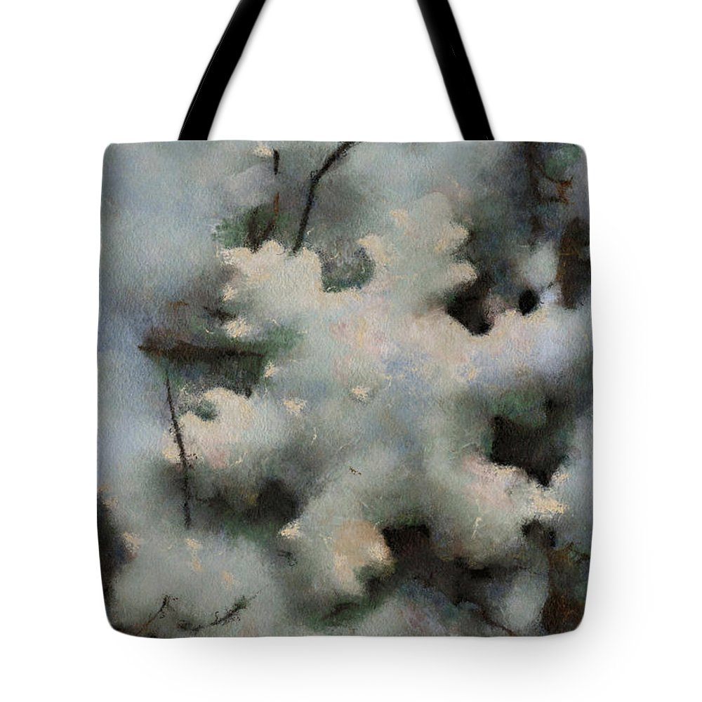 Season Tote Bag featuring the photograph Snow Flake 03 Photo Art by Thomas Woolworth