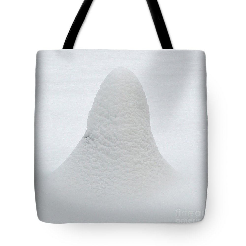 Snow Tote Bag featuring the photograph Snow Ghost by Meandering Photography