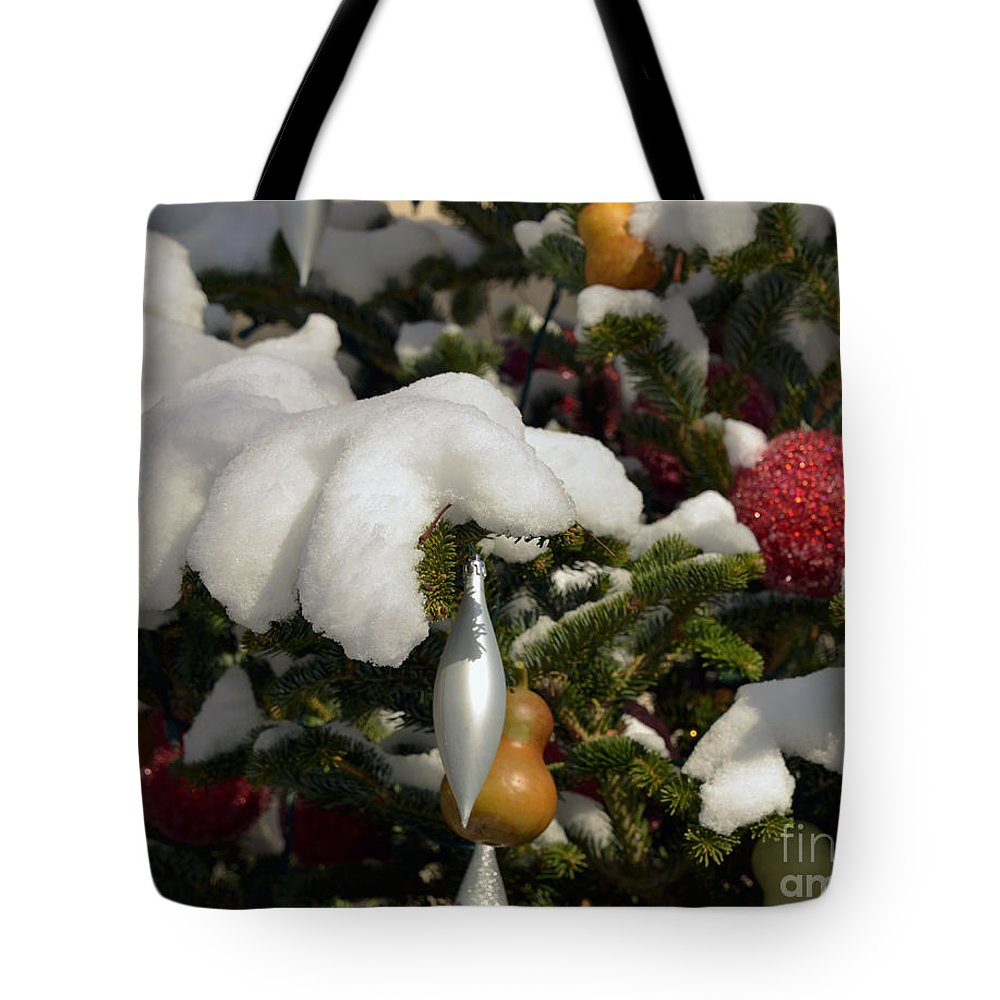 Winter Tote Bag featuring the photograph Snow Hands by Terri Winkler