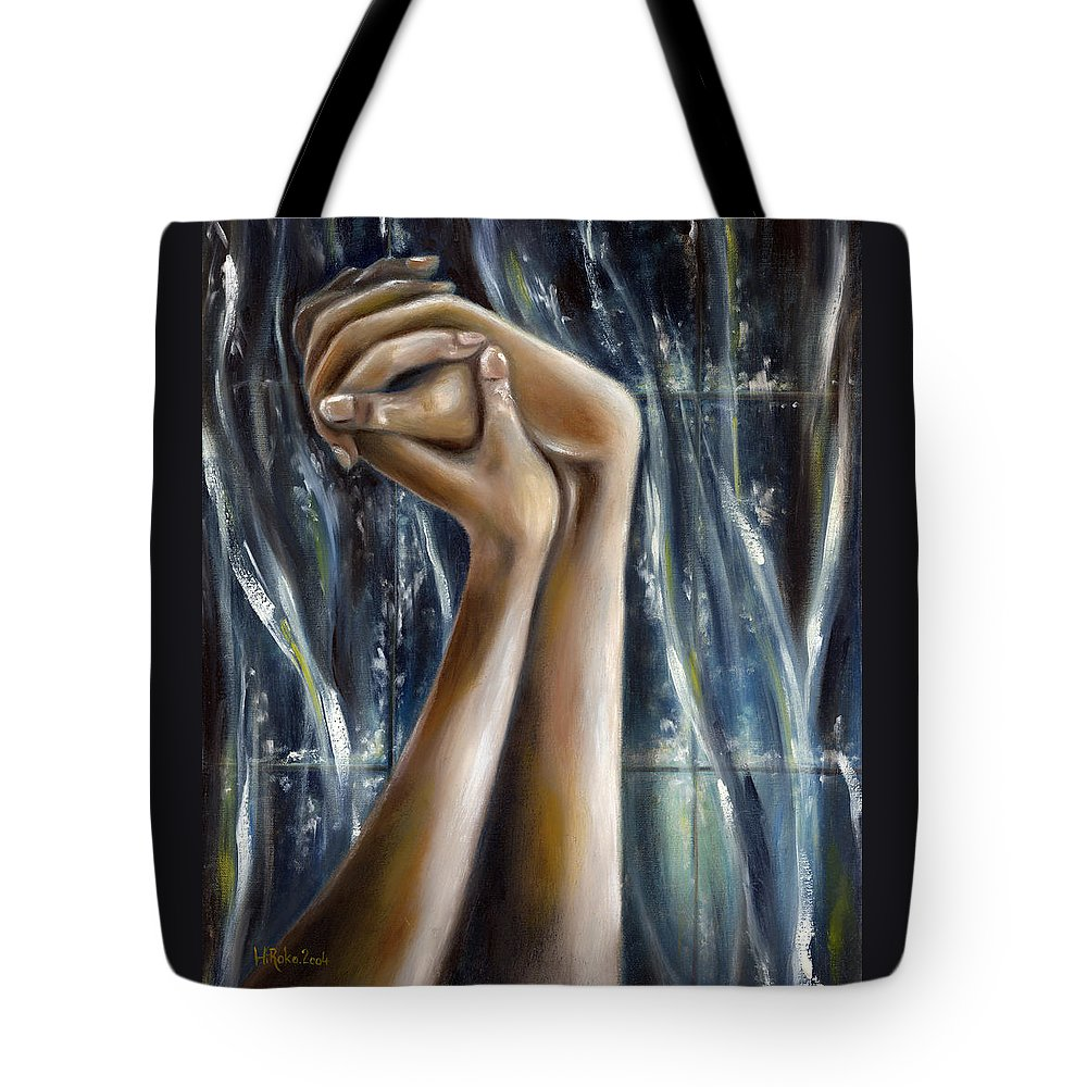 Blue Tote Bag featuring the painting Snow Light by Hiroko Sakai