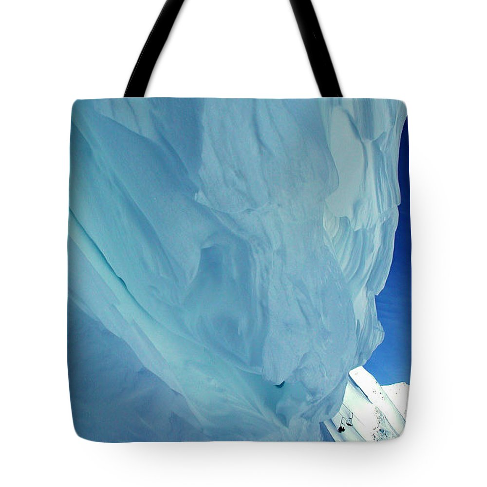 Colette Tote Bag featuring the photograph Snow Naturel Formation Kappl Austria by Colette V Hera Guggenheim
