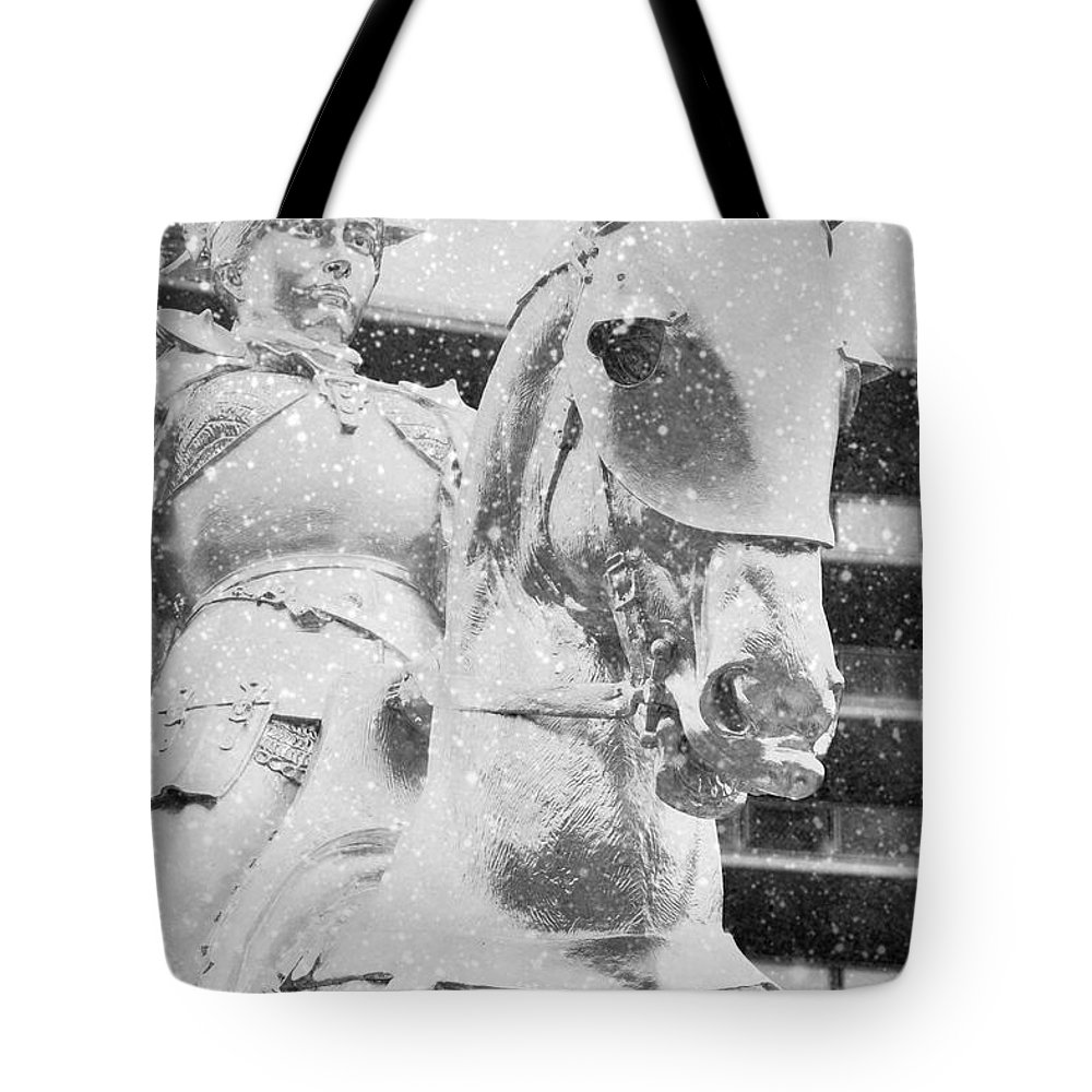 The Philadelphian Tote Bag featuring the photograph Snow On The Philadelphian by Alice Gipson