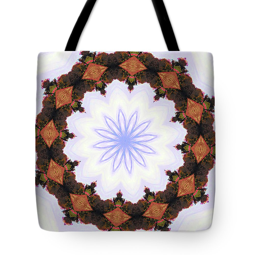 Christmas Wreath Tote Bag featuring the digital art Snow Wreath by Lisa Brandel