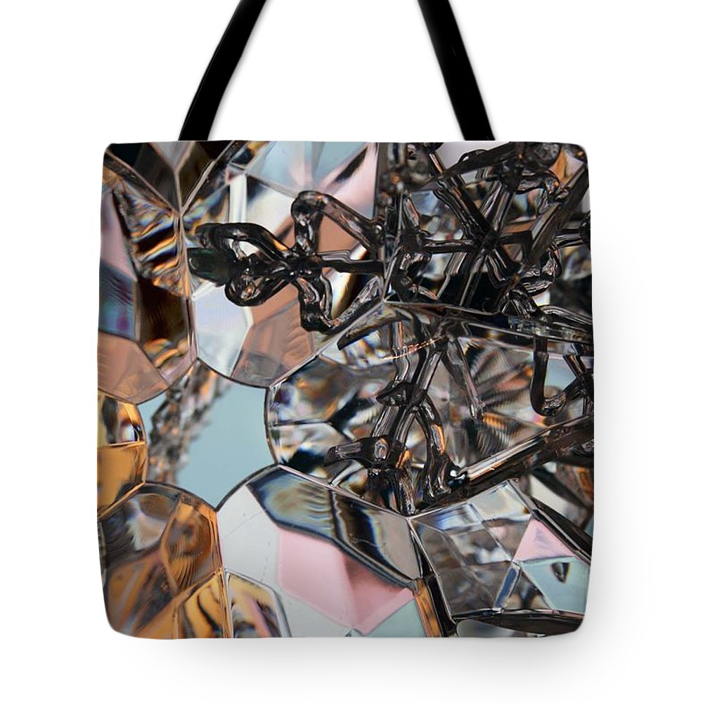Abstract Tote Bag featuring the photograph Snowflakes by Crystal Nederman