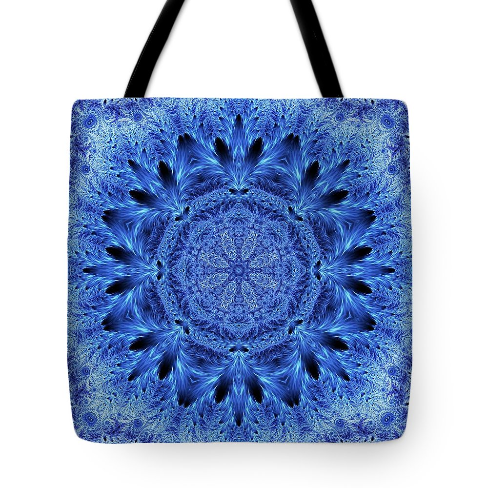 Snowflake Tote Bag featuring the digital art Snowflake by Lilia D