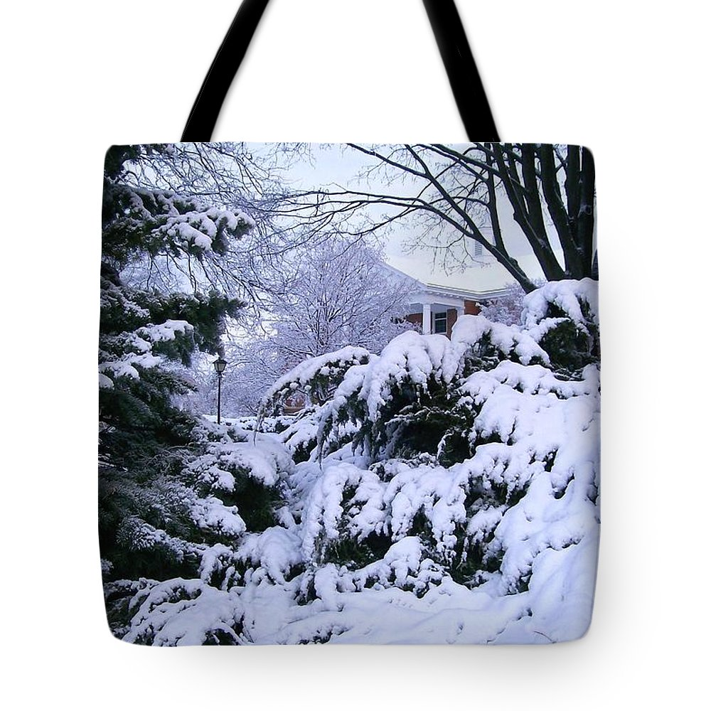 Snowmageddon Tote Bag featuring the photograph Snowmageddon 2014 by Laurie Eve Loftin