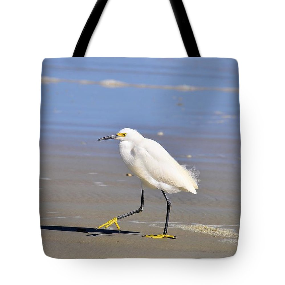 Bird Tote Bag featuring the photograph Snowy Egret by Rich Bodane