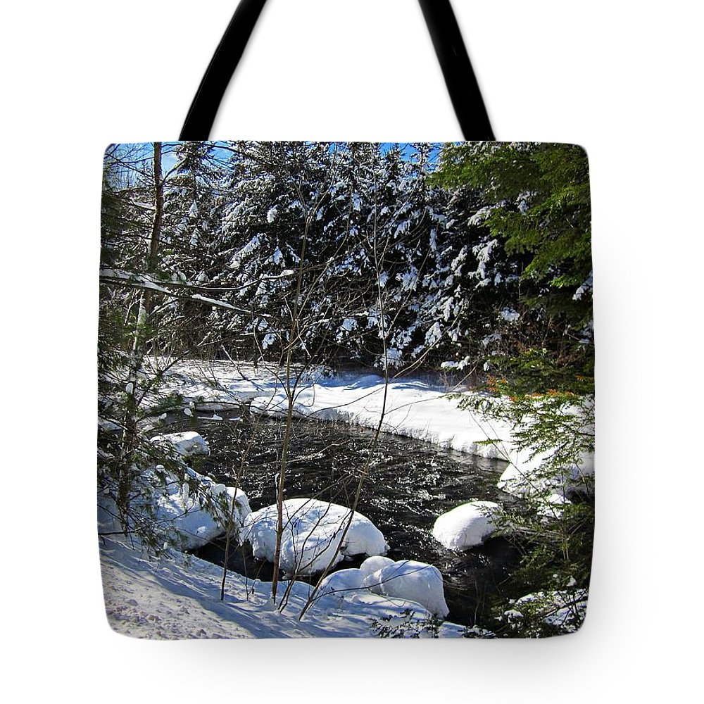 Snow Tote Bag featuring the photograph Snowy River by MTBobbins Photography