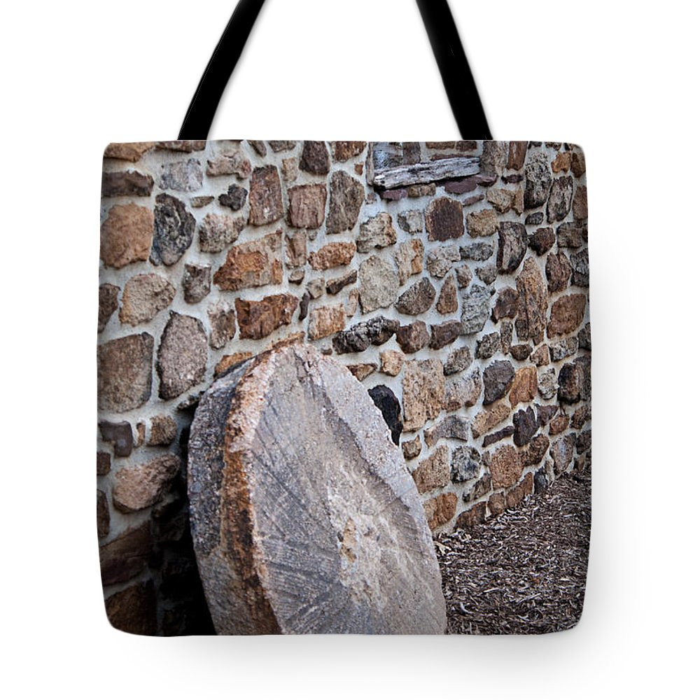 Snyders Mill Tote Bag featuring the photograph Snyders Millstone by Michael Porchik