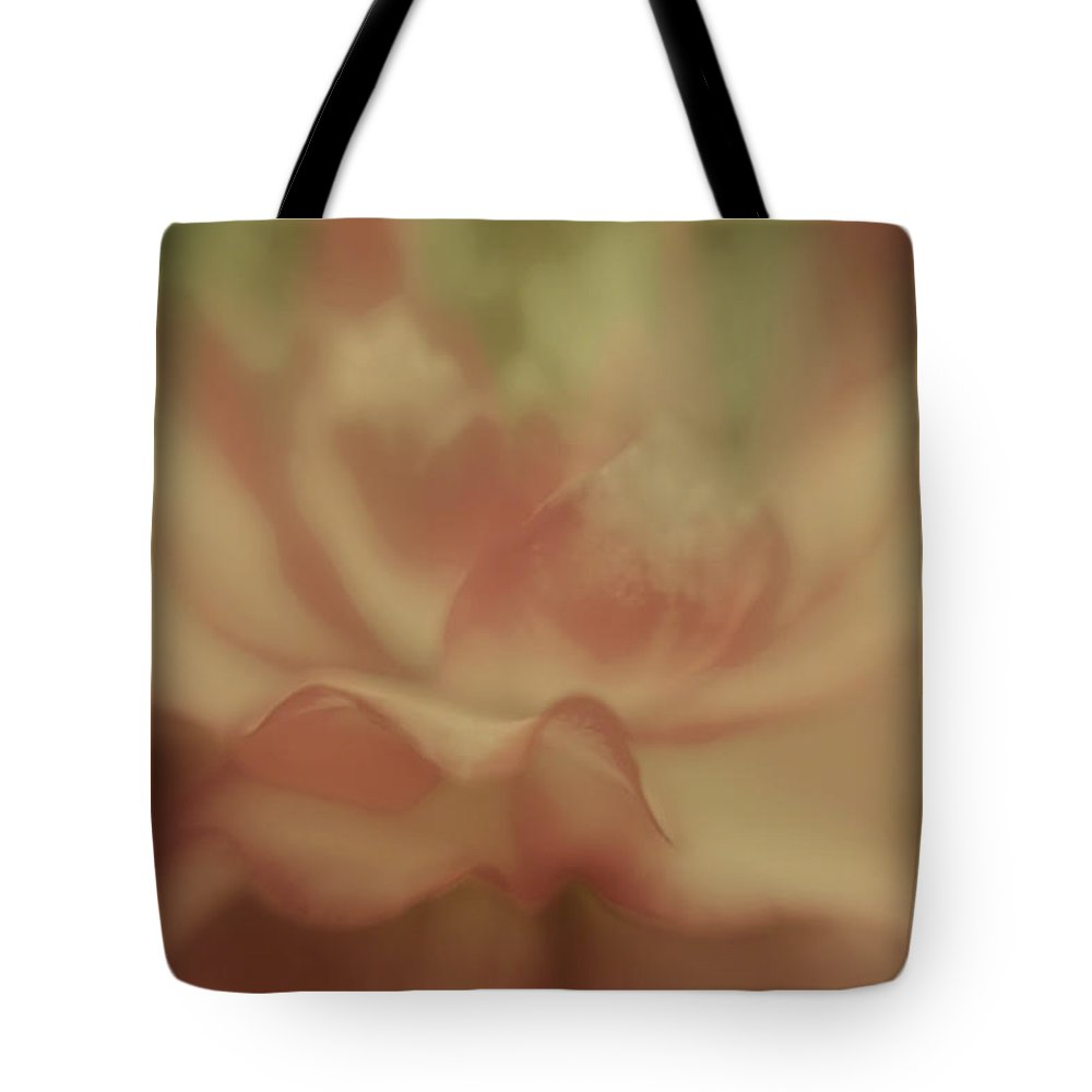 Flower Tote Bag featuring the digital art So Soft Rose by Diane Dugas