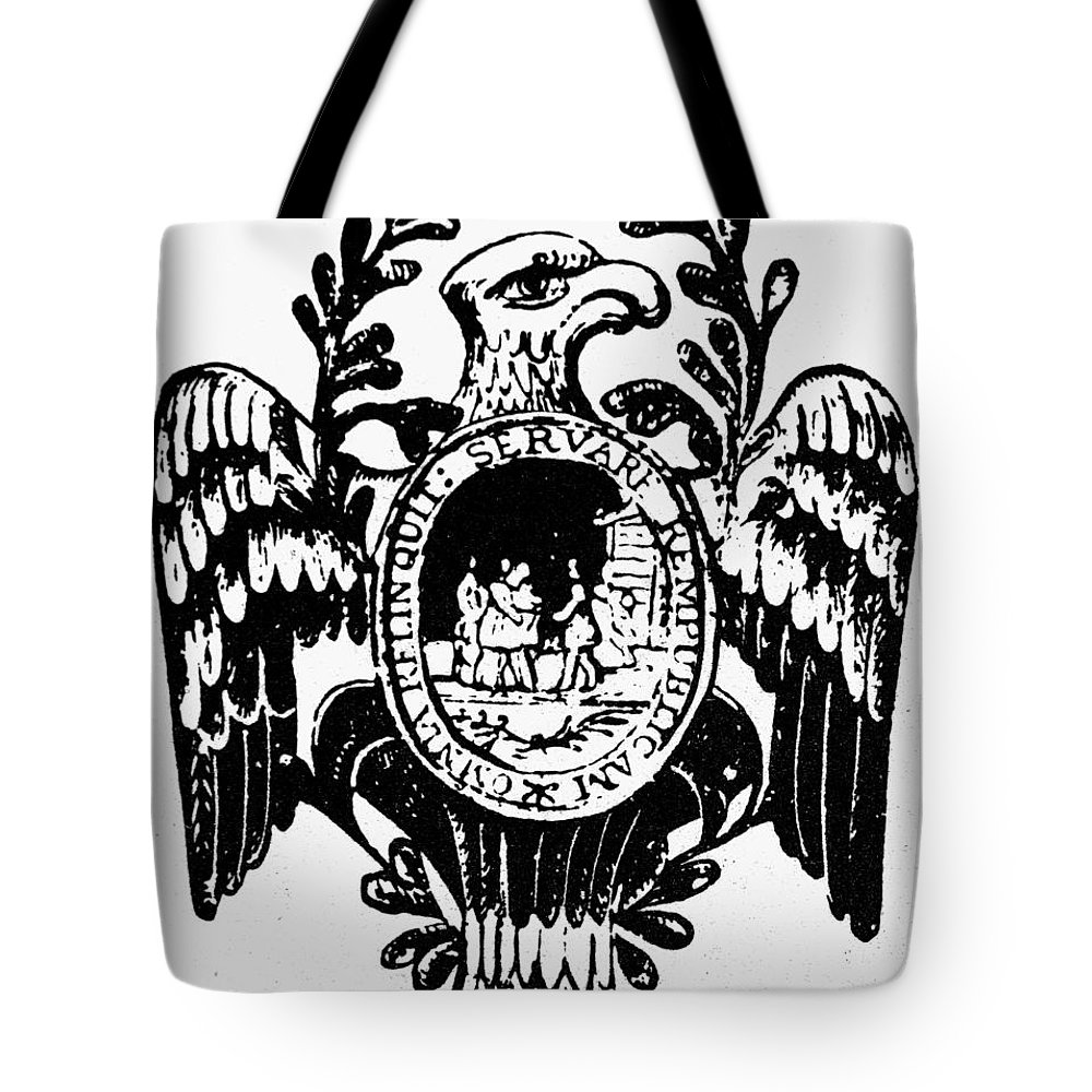 American Tote Bag featuring the photograph Society Of The Cincinnati by Granger