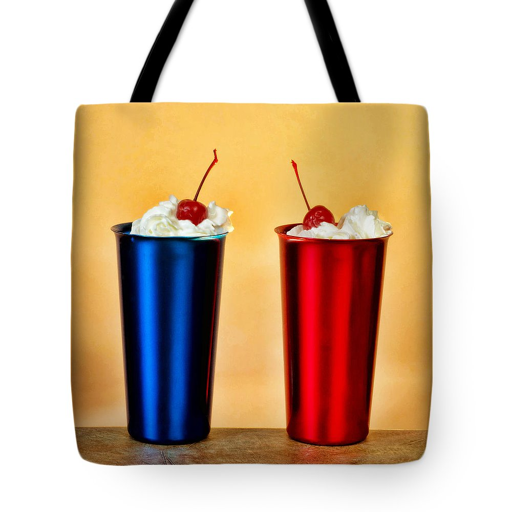 Milkshake Tote Bag featuring the photograph Soda Fountain Joy by Linda Mcfarland