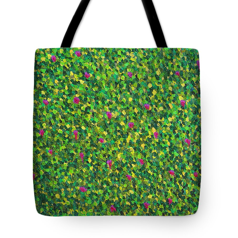 Abstract Tote Bag featuring the painting Soft Green With Pink by Dean Triolo